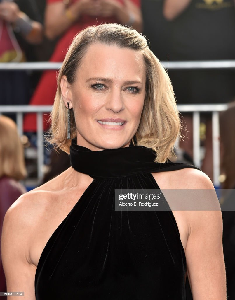 Actress Robin Wright attends the premiere of Warner Bros. Pictures' 'Wonder Woman' at the Pantages Theatre on May 25, 2017 in Hollywood, California.