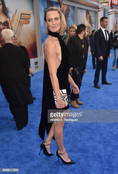 Actress Robin Wright attends the premiere of Warner Bros Pictures' 'Wonder Woman' at the Pantages Theatre on May 25 2017 in Hollywood California