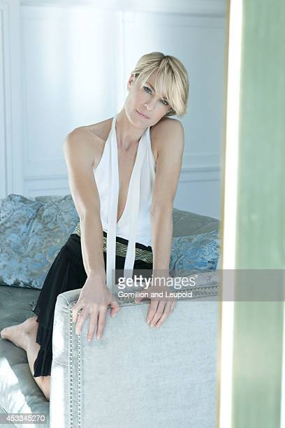 Actress Robin Wright is photographed for Amica Magazine Italy on April 1 2012 in Malibu California