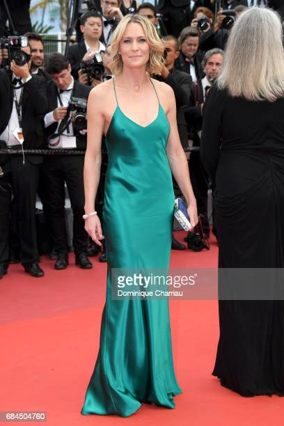 Actress Robin Wright of The Dark of Night attends the 'Loveless ' screening during the 70th annual Cannes Film Festival at Palais des Festivals on...