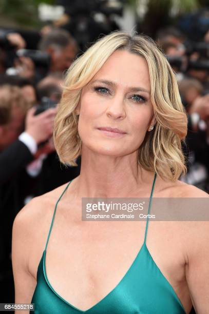 Actress Robin Wright of 'The Dark of Night' attends the 'Loveless ' screening during the 70th annual Cannes Film Festival at Palais des Festivals on...