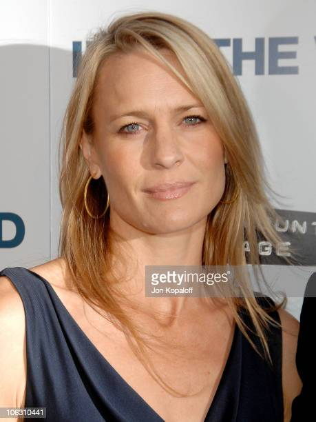 Actress Robin Wright Penn arrives at the Los Angeles Premiere Into The Wild at the Directors Guild of America on September 18 2007 in West Hollywood...