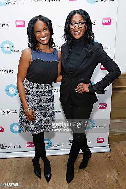 Actress Robinne Lee and casting director Robi Reed attend as BET Networks partners with OraQuick for 'Life As We Know It' a special panel series...