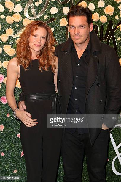 Actress Robyn Lively and actor Bart Johnson attend Becca Tilley's blog and YouTube launch party at The Bachelor Mansion on December 5 2016 in Los...