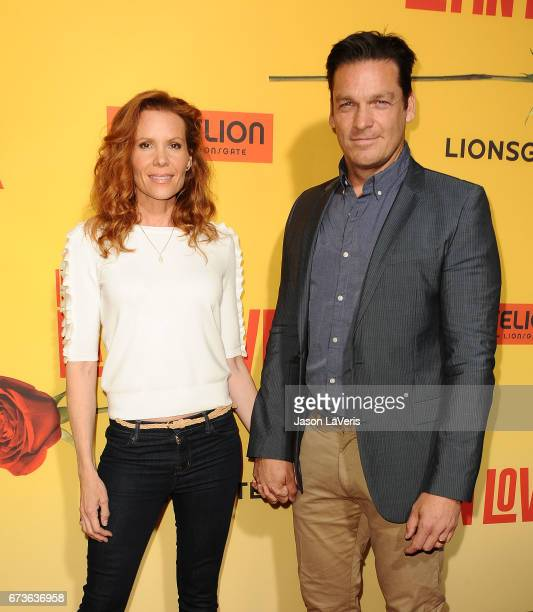 Actress Robyn Lively and actor Bart Johnson attend the premiere of How to Be a Latin Lover at ArcLight Cinemas Cinerama Dome on April 26 2017 in...