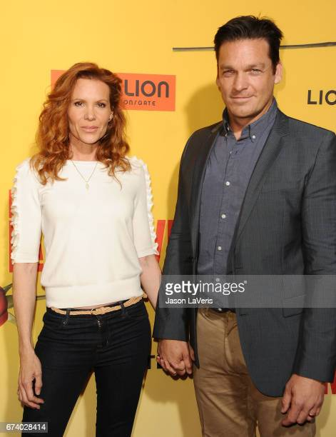 Actress Robyn Lively and actor Bart Johnson attend the premiere of 'How to Be a Latin Lover' at ArcLight Cinemas Cinerama Dome on April 26 2017 in...
