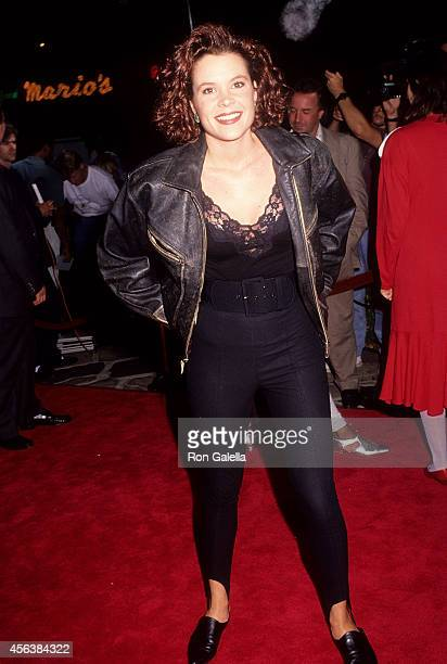 "Actress Robyn Lively attends the ""'Buffy, the Vampire Slayer"" Westwood Premiere on July 29, 1992 at Mann Village Theatre in Westwood, California."
