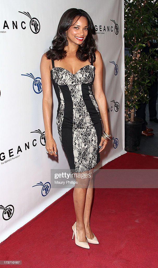 Actress Rochelle Aytes arrives at The GEANCO Foundation's 'Impact Africa' Fundraiser at Bootsy Bellows on July 16, 2013 in West Hollywood, California.