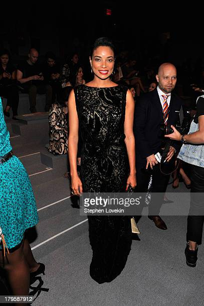 Actress Rochelle Aytes attends the Tadashi Shoji Spring 2014 fashion show during MercedesBenz Fashion Week at The Stage at Lincoln Center on...