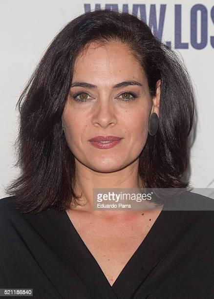 Actress Rocio Munoz attends 'Los vecinos de arriba' premiere at La Latina theatre on April 14 2016 in Madrid Spain