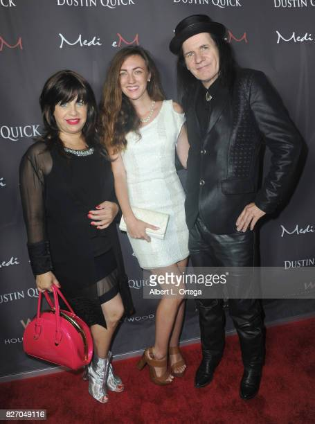 Actress Rodica Isabella Shaldan actress Amber Martinez and musician Ron Whitaker at the Music Video Premiere HEARTBEAT by Medi eM Dustin Quick held...