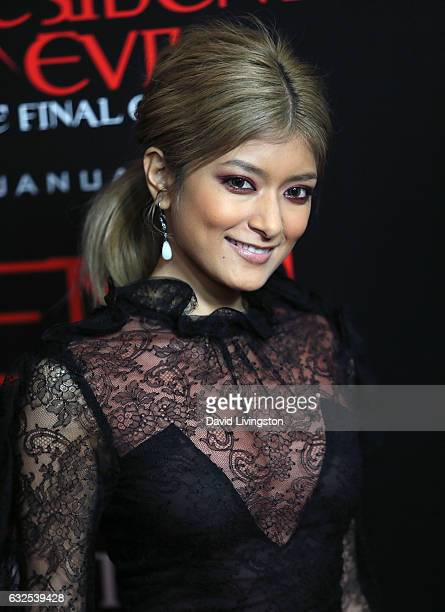 Actress Rola attends the premiere of Sony Pictures Releasing's 'Resident Evil The Final Chapter' at Regal LA Live A Barco Innovation Center on...