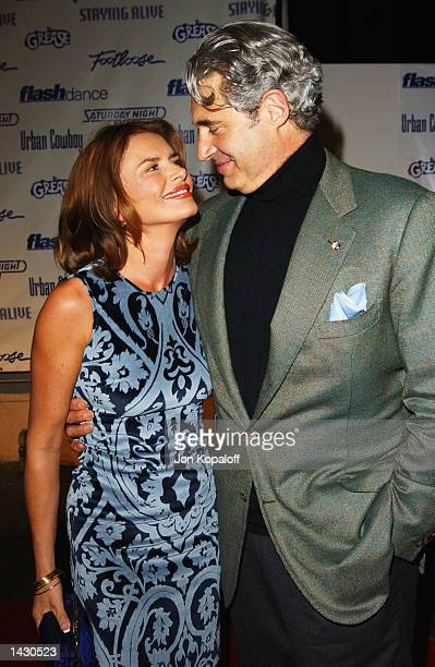 Actress Roma Downey and actor Michael Nouri from the movie Flashdance attend the Celebration of Paramount Studio's 90th Anniversary with the release...