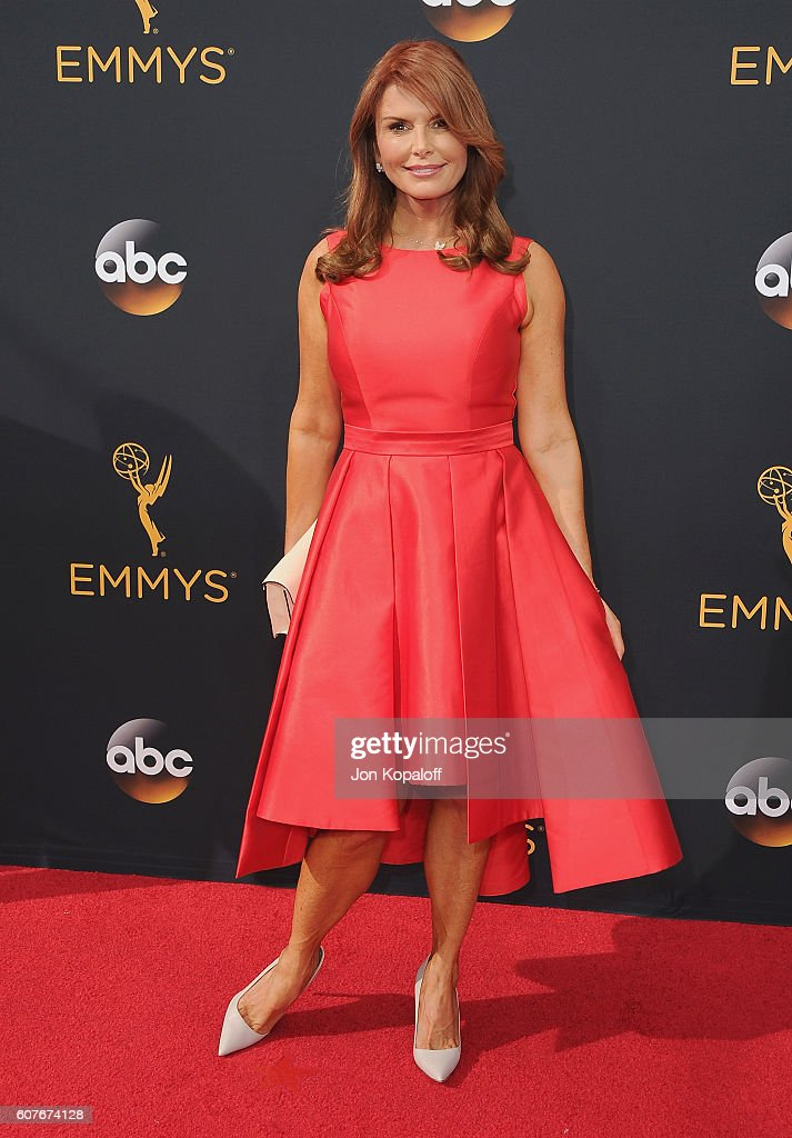 Actress Roma Downey arrives at the 68th Annual Primetime Emmy Awards at Microsoft Theater on September 18, 2016 in Los Angeles, California.