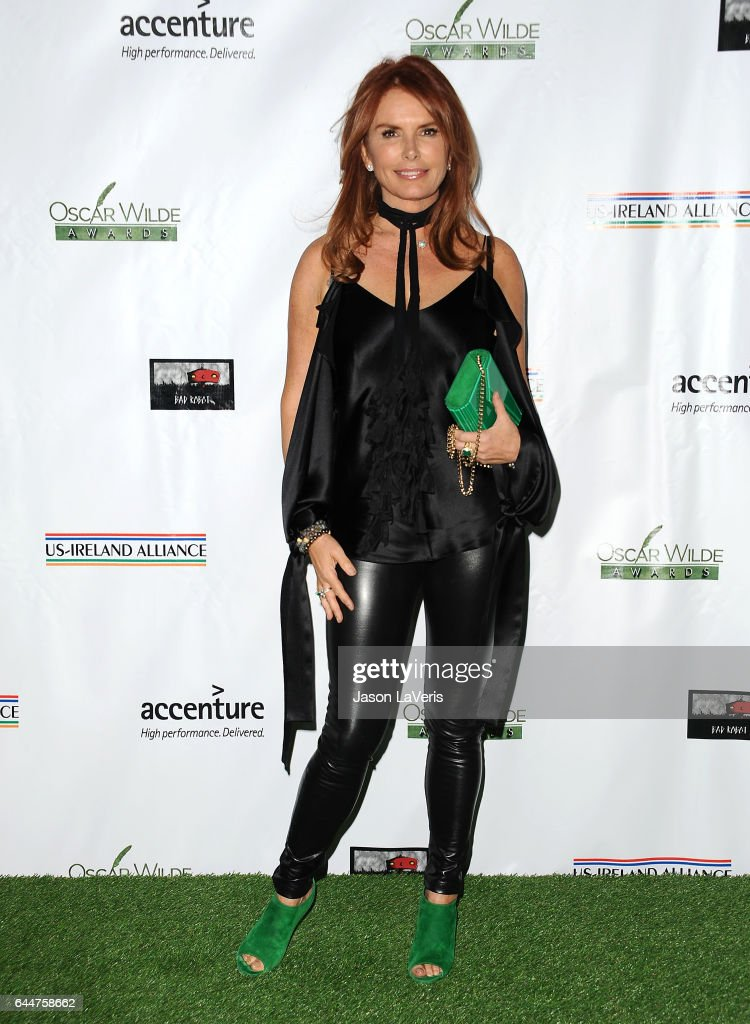 Actress Roma Downey attends the 12th annual Oscar Wilde Awards at Bad Robot on February 23, 2017 in Santa Monica, California.