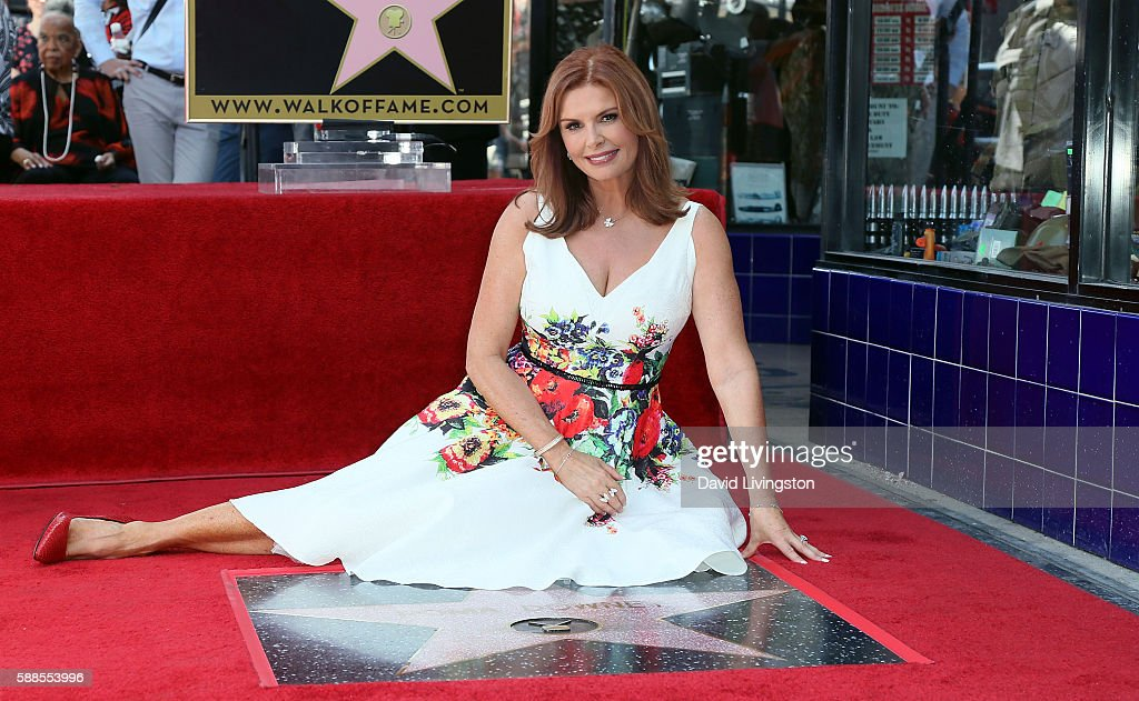 Actress Roma Downey is honored with a Star on the Hollywood Walk of Fame on August 11, 2016 in Hollywood, California.