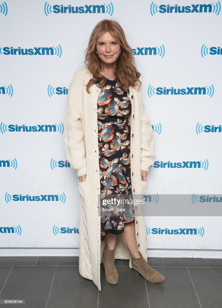 Actress Roma Downey visits the SiriusXM Studios on March 8, 2018 in New York City.