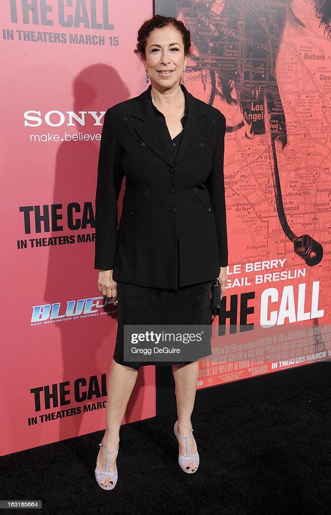 Actress Roma Maffia arrives at the Los Angeles premiere of 'The Call' at ArcLight Hollywood on March 5, 2013 in Hollywood, California.