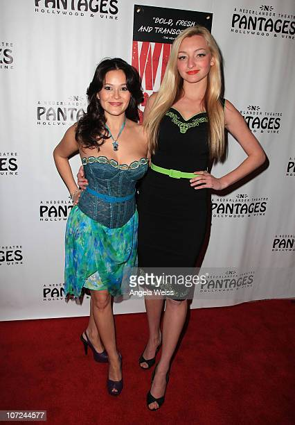 Actress Romi Dames and actress Joell Posey attend the opening night of 'West Side Story' at the Pantages Theatre on December 1 2010 in Hollywood...