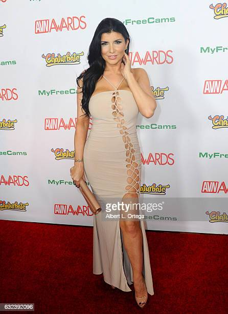 Actress Romi Rain arrives at the 2017 Adult Video News Awards held at the Hard Rock Hotel Casino on January 21 2017 in Las Vegas Nevada