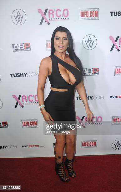 Actress Romi Rain arrives for the 33rd Annual XRCO Awards Show held at OHM Nightclub on April 27 2017 in Hollywood California
