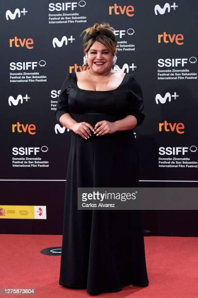 Actress Romina Escobar attends 'Nosotros Nunca Moriremos' premiere during the 68th San Sebastian International Film Festival on September 23 2020 in...