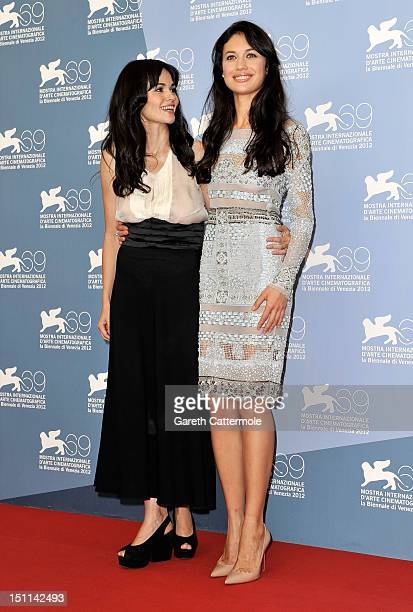 Actress Romina Mondello and actress Olga Kurylenko attend the To The Wonder Photocall during the 69th Venice Film Festival at the Palazzo del Casino...