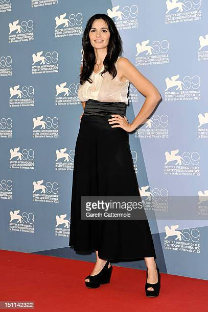 Actress Romina Mondello attends the To The Wonder Photocall during the 69th Venice Film Festival at the Palazzo del Casino on September 2 2012 in...