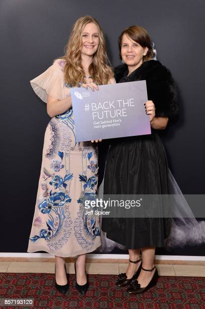 Actress Romola Garai and guest attend the BFI Luminous Fundraising Gala at The Guildhall on October 3 2017 in London England