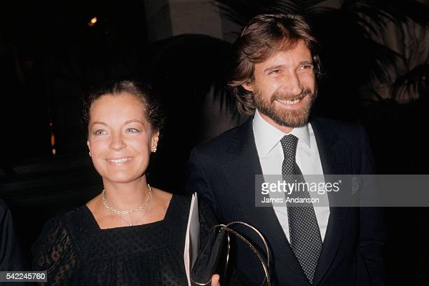 Actress Romy Schneider and her husband Daniel Biasini at the Opera de Paris for a tribute to the Italian director Luchino Visconti