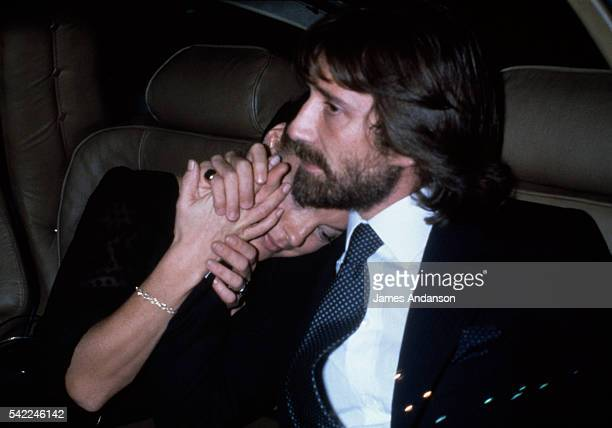 Actress Romy Schneider, and her husband, Daniel Biasini, at the Opera de Paris for a tribute to the Italian director Luchino Visconti.