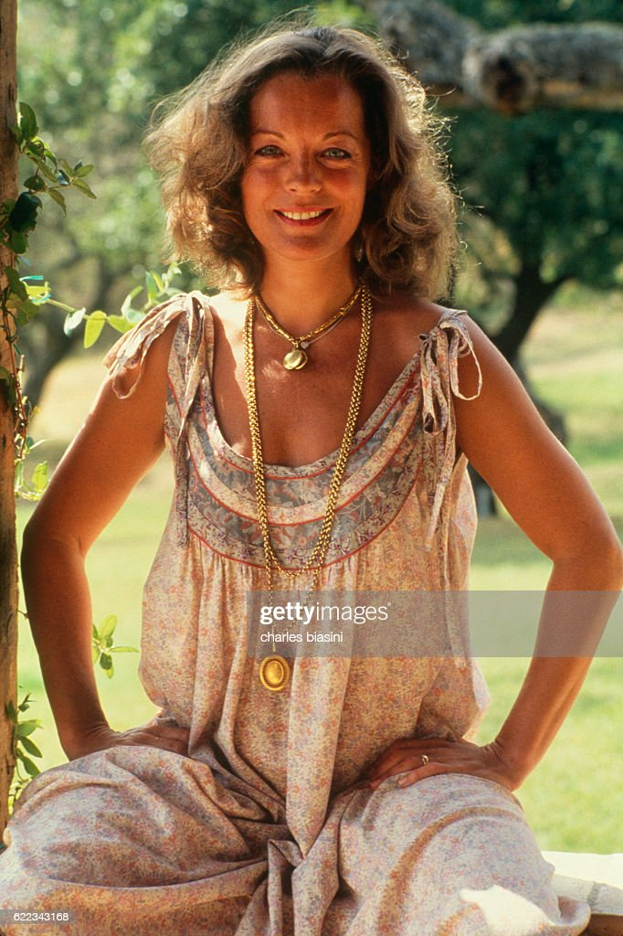 Actress Romy Schneider during her Sicilian Holidays : News Photo