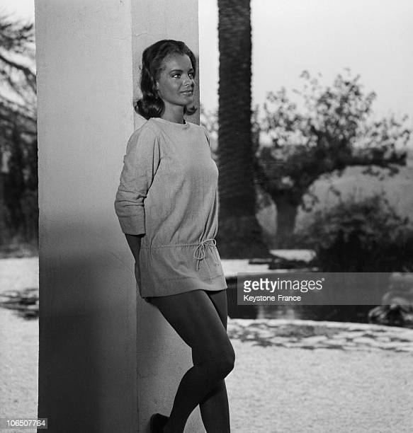 Actress Romy Schneider On The Shooting Of The Swimming Pool By The Director Jacques Deray On The French Riviera On August 12 1968