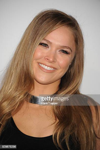 Actress Ronda Rousey arrives at the premiere of Furious 7 held at the TCL Chinese Theater in Hollywood