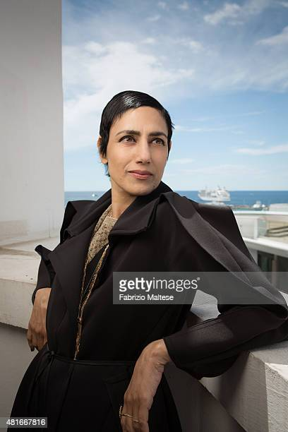 Actress Ronit Elkabetz is photographed for The Hollywood Reporter on May 15, 2015 in Cannes, France.