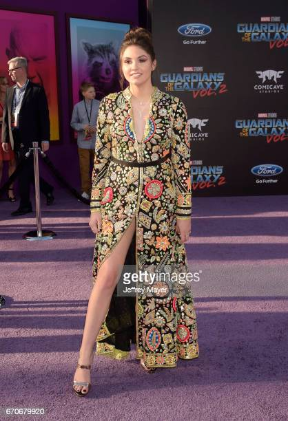 Actress Ronni Hawk arrives at the Premiere Of Disney And Marvel's 'Guardians Of The Galaxy Vol 2' at Dolby Theatre on April 19 2017 in Hollywood...