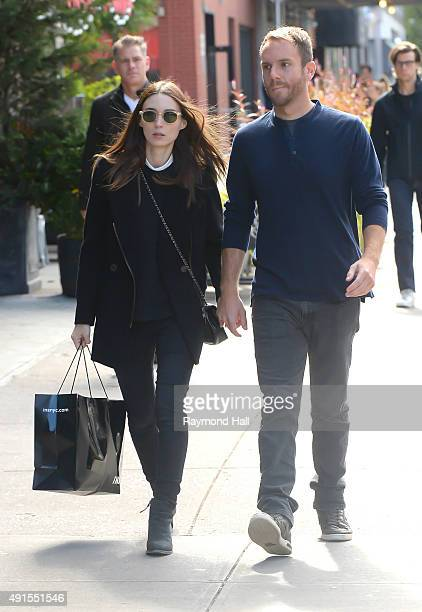 Actress Rooney Mara and boyfriend Charlie McDowell are seen walking walking in Soho on October 6 2015 in New York City