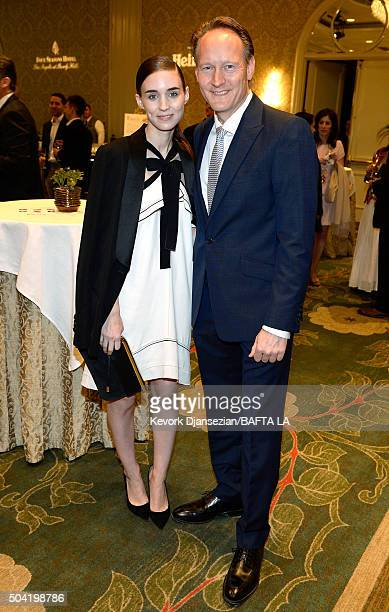 Actress Rooney Mara and British Consul General Southwest Region United States Chris O'Connor attend the BAFTA Los Angeles Awards Season Tea at Four...