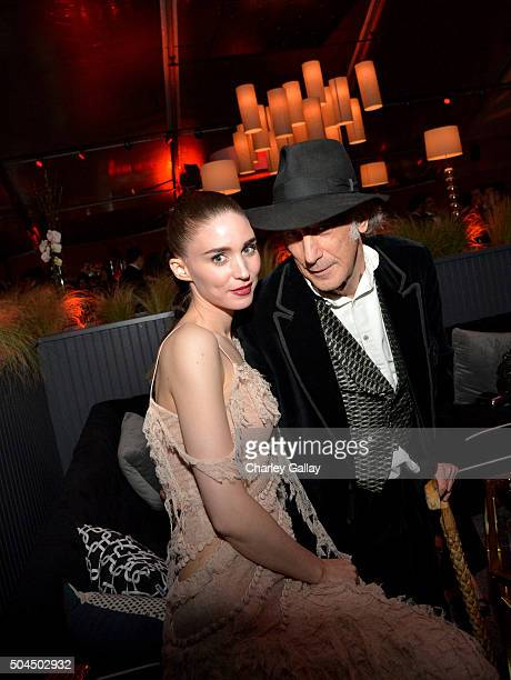 Actress Rooney Mara and Cinematographer Edward Lachman attend The Weinstein Company and Netflix Golden Globe Party presented with DeLeon Tequila...