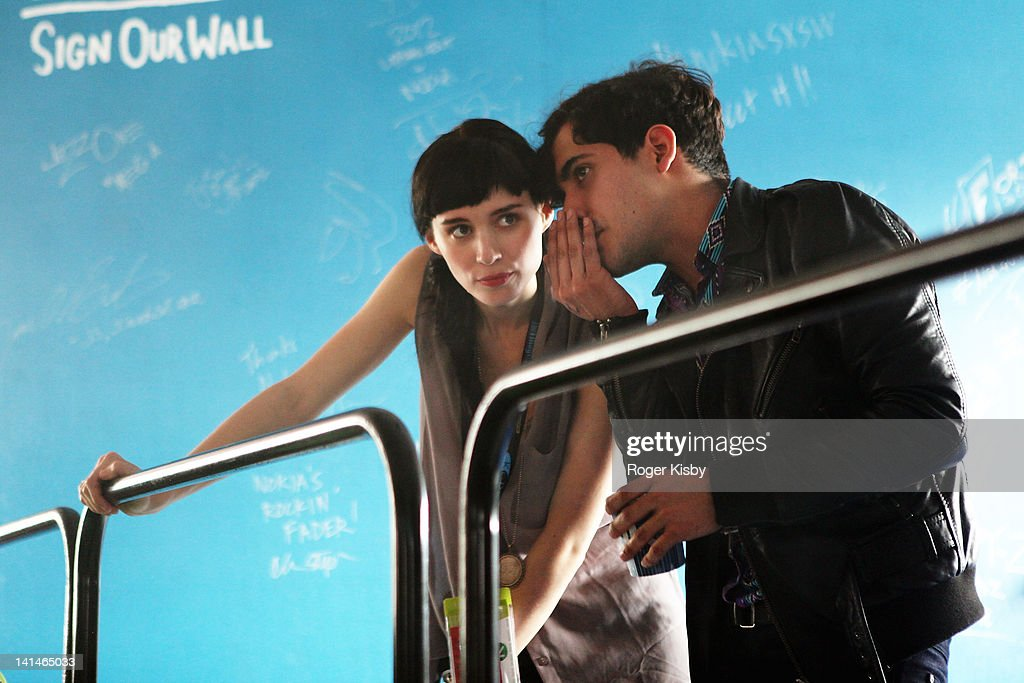 Actress Rooney Mara and musician Alan Palomo of Neon Indian film a scene for the new Terence Malick directed film Lawless at Fader Fort presented by Converse during SXSW on March 16, 2012 in Austin, Texas.