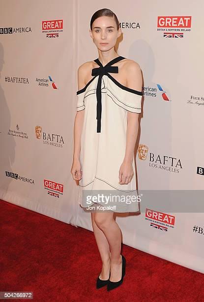 Actress Rooney Mara arrives at BAFTA Los Angeles Awards Season Tea at Four Seasons Hotel Los Angeles at Beverly Hills on January 9 2016 in Los...