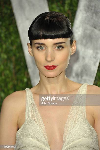 Actress Rooney Mara arrives at the 2012 Vanity Fair Oscar Party hosted by Graydon Carter at Sunset Tower on February 26 2012 in West Hollywood...