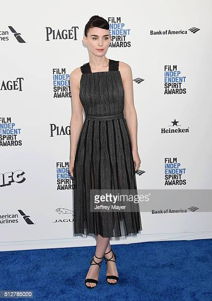 Actress Rooney Mara arrives at the 2016 Film Independent Spirit Awards on February 27 2016 in Santa Monica California