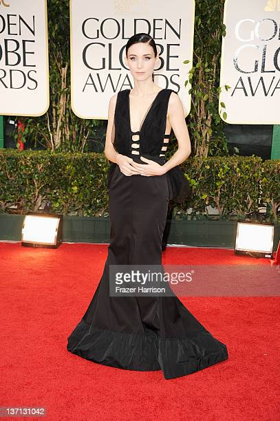 Actress Rooney Mara arrives at the 69th Annual Golden Globe Awards held at the Beverly Hilton Hotel on January 15, 2012 in Beverly Hills, California.