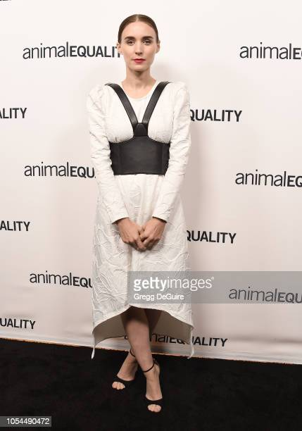 Actress Rooney Mara arrives at the Animal Equality's Inspiring Global Action Los Angeles Gala at The Beverly Hilton Hotel on October 27 2018 in...