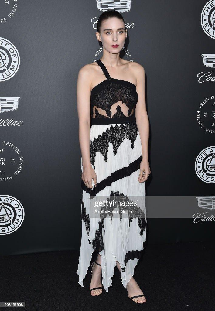 Actress Rooney Mara arrives at The Art of Elysium's 11th Annual Celebration - Heaven at Barker Hangar on January 6, 2018 in Santa Monica, California.