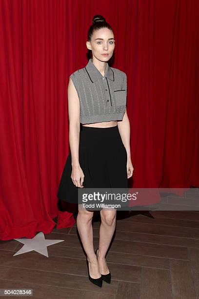 Actress Rooney Mara attends the 16th Annual AFI Awards at Four Seasons Hotel Los Angeles at Beverly Hills on January 8 2016 in Beverly Hills...