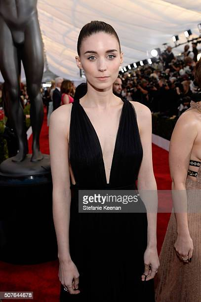 Actress Rooney Mara attends The 22nd Annual Screen Actors Guild Awards at The Shrine Auditorium on January 30, 2016 in Los Angeles, California....