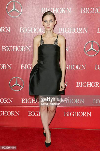 Actress Rooney Mara attends the 27th Annual Palm Springs International Film Festival Awards Gala at the Palm Springs Convention Center on January 2...