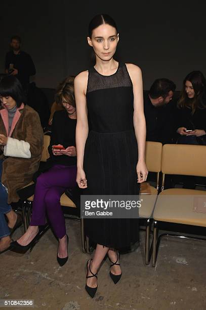 Actress Rooney Mara attends the Boss Womenswear Fall 2016 fashion show during New York Fashion Week The Shows on February 17 2016 in New York City